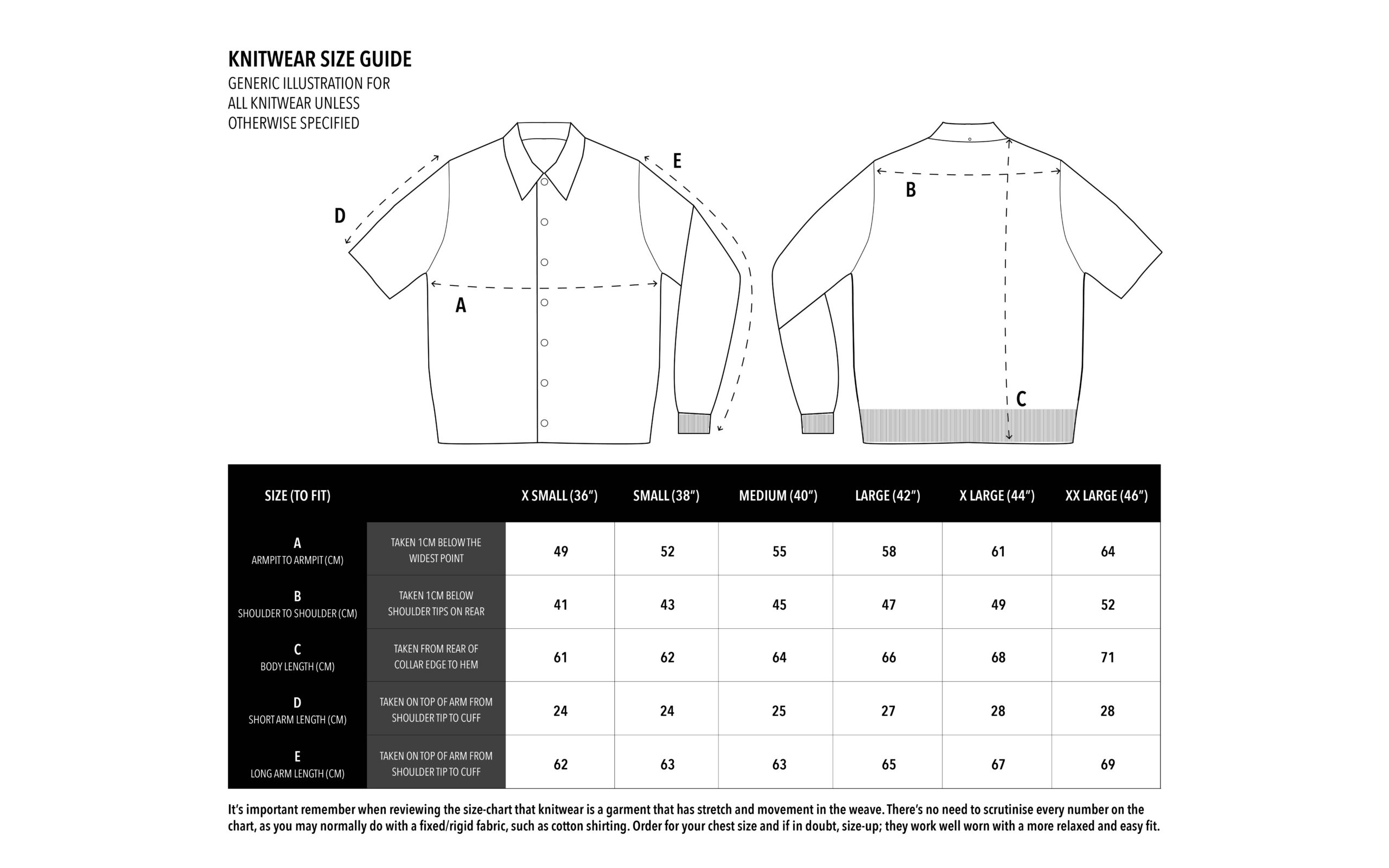 SFC Core Knit Size Chart copy