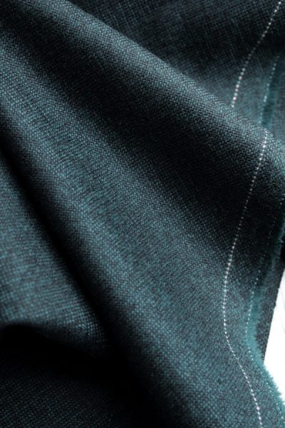 Black and green wool