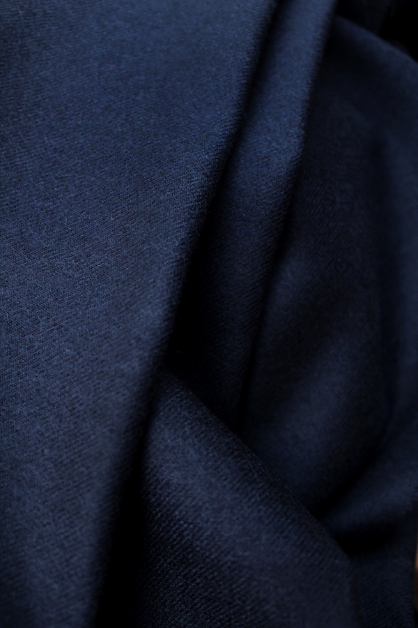 Navy blue wool