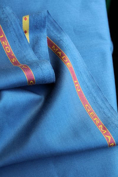 Scott Fraser Collection - Corn flour blue tropical wool