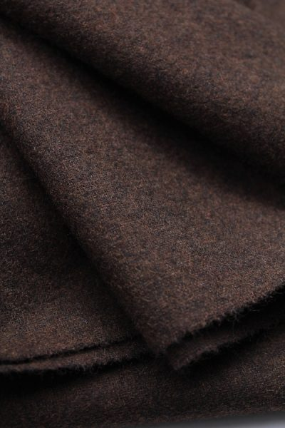 Scott Fraser Collection - Chocolate combed brown wool