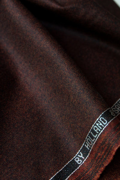 Scott Fraser Collection - Black and brick micro mottled wool