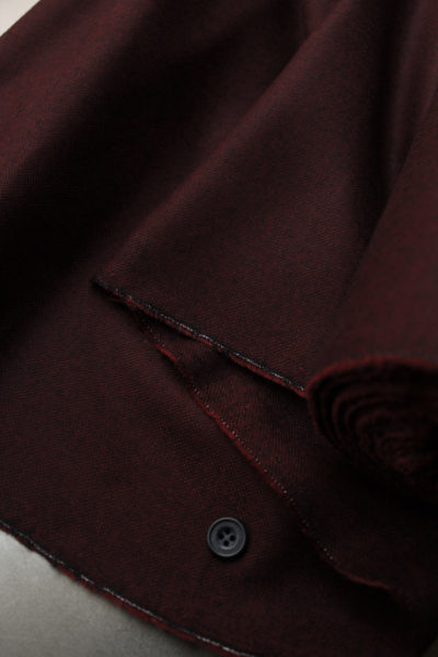 Burgundy w/ black woven wool suiting